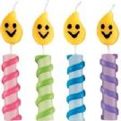 Smiley Flames Chunky Candles